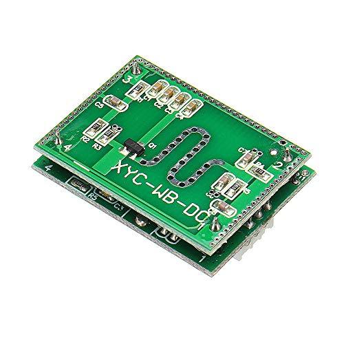 Módulo electrónico DC 3,3 V a 20 V de 5,8 GHz Microondas radar sensor inteligente interruptor del sensor del módulo de activación for el Control de Inicio Anti-interferir 3 piezas Equipo electrónico d
